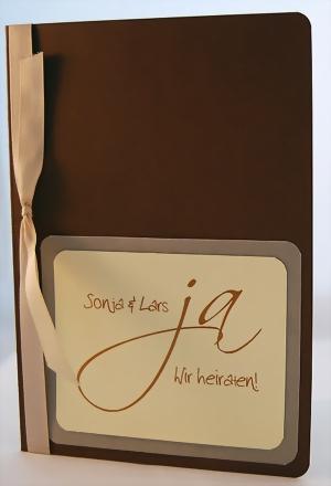 """einladungskarte """"ja wir heiraten"""" braun - smilebox gmbh, Einladung"""